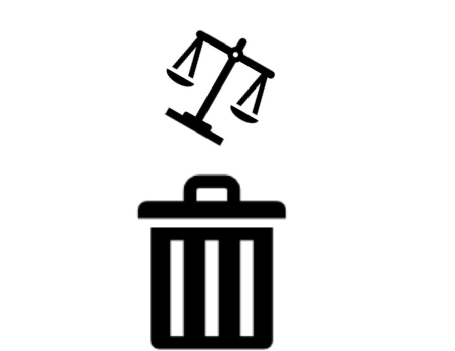 justice in to the trash can